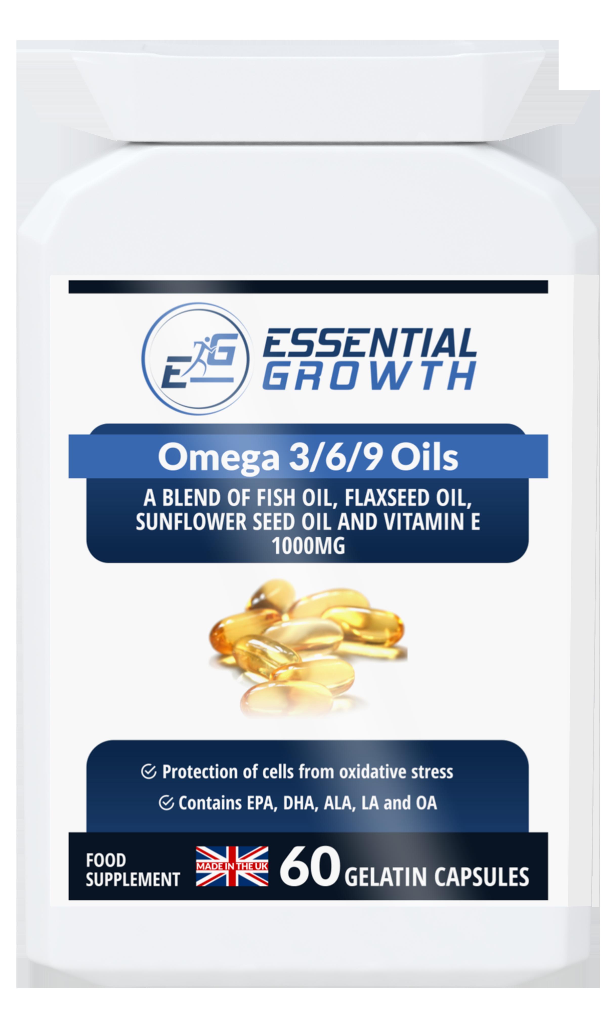 Omega 3 6 9 Oils Essential Growth